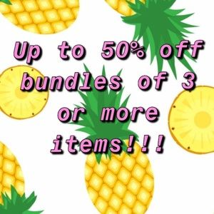 Bundle 3 or more items for up to 50% off!!!